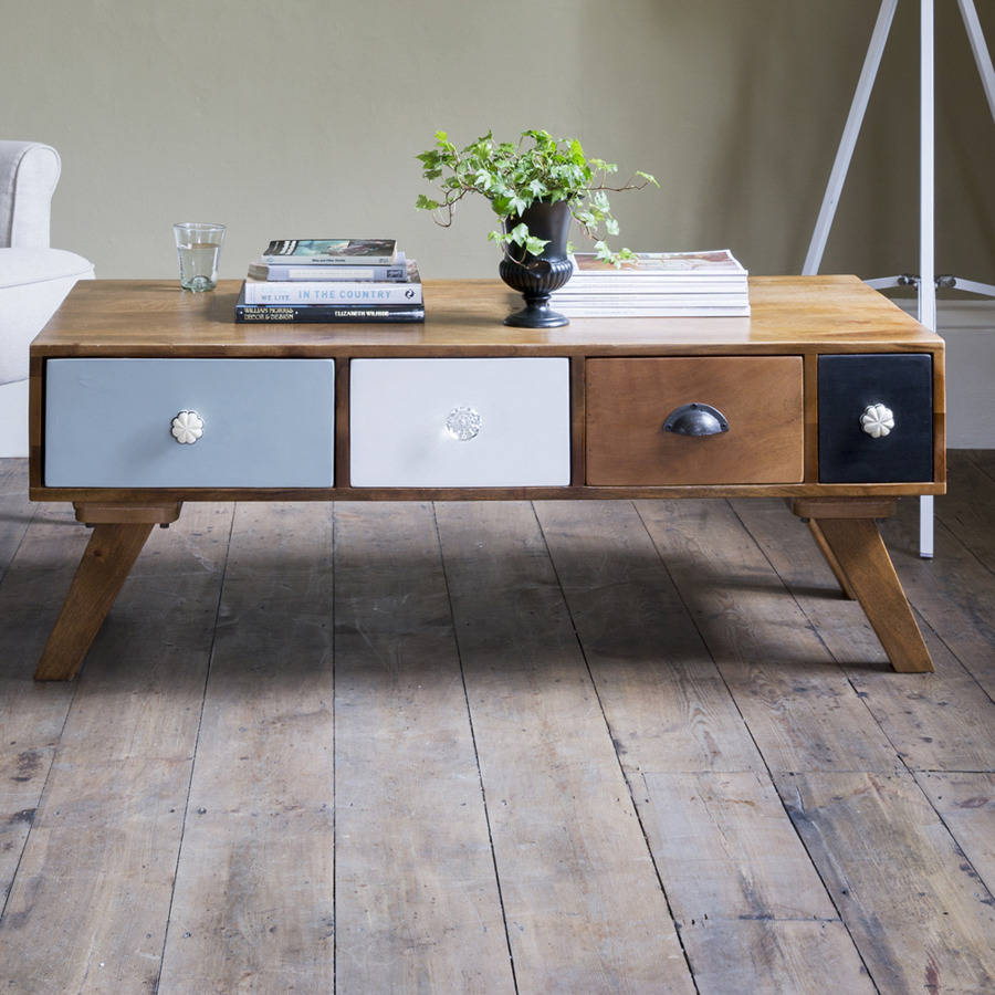 Milligan Retro Multi Drawer Coffee Table By Atkin And Thyme