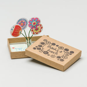 Personalised 'Thanks A Bunch' Thank You Box - card alternatives
