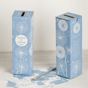 'Wishes And Wisdom Box' Wedding Message Box