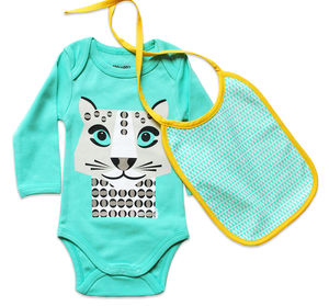 Body Suit And Bib Snow Leopard