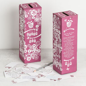 'Happy Box' Memories And Diary Box - stocking fillers