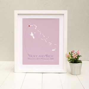 Wedding In The Bahamas Personalised Print