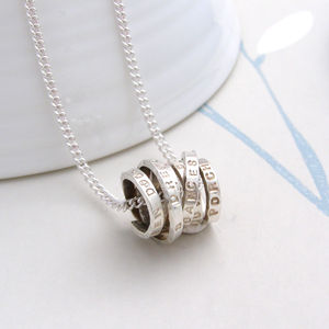 Personalised Scroll Necklace - necklaces & pendants