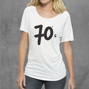 '70s, 80s, 90s…' Womans Cotton T Shirt - t-shirts