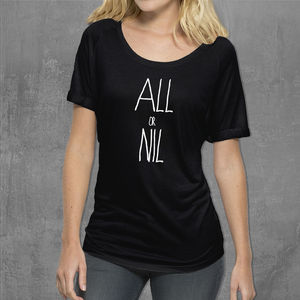 'All Or Nil' Womans T Shirt - nightwear