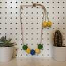 Springtime Wooden Necklace