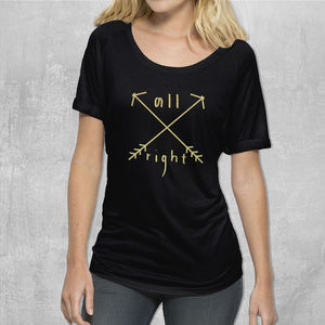 'All Right Arrows' Womans Cotton T Shirt