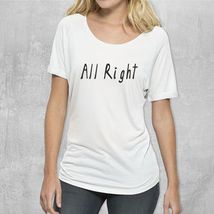 'All Right' Womans T Shirt - lingerie & nightwear