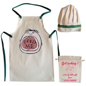 'Feed Me' Child's Apron And Chef Hat Set