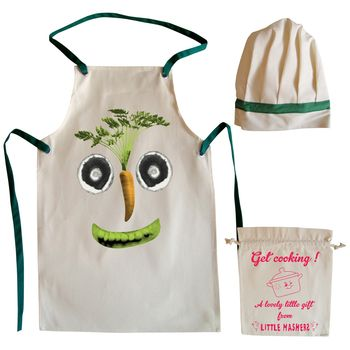 Veg Face Child's Apron And Chef Hat Set