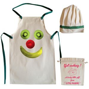 Fruit Face Child's Apron And Chef Hat Set - children's cooking