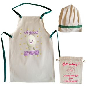 A Good Egg Child's Apron And Chef Hat Set - more