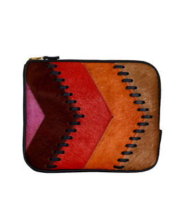Cortes Leather Stitched Clutch