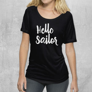 'Hello Sailor' Womans Cotton T Shirt
