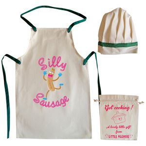 Silly Sausage Child's Apron And Hat Chef Set - kitchen accessories