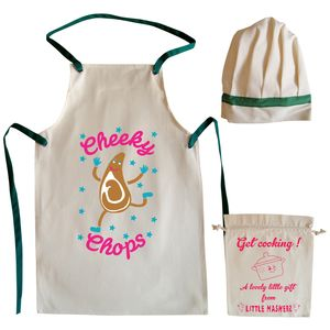 Cheeky Chops Child's Apron And Hat Chef Set