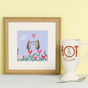 'Hedgehugs Love Heart' Framed Print