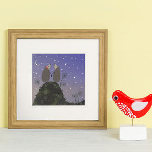 'Hedgehugs Star Gazing' Print