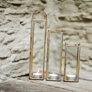 Tall Brass Lantern