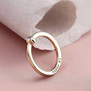 Personalised 9ct Gold Diamond Engagement Ring - rings