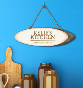 Personalised 'My Kitchen' Wooden Sign