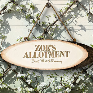 Personalised 'My Allotment' Wooden Sign - art & decorations