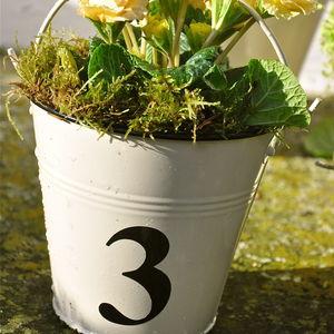 Vintage Number Bucket - gardening