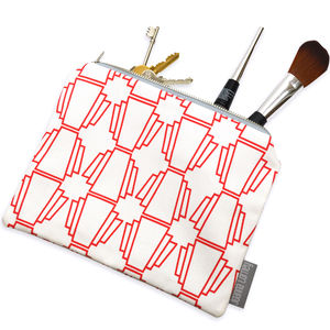 Geo Fabric Pouch - purses & wallets