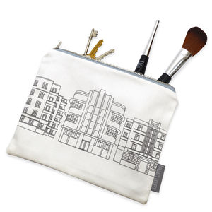 Deco Building Fabric Pouch - make-up bags