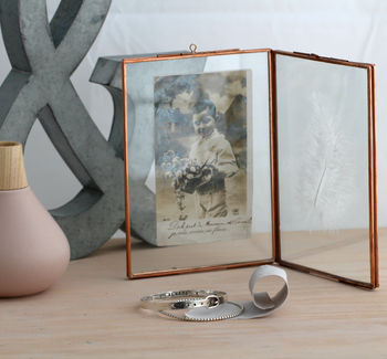 Large Vintage Style Copper Photo Frame