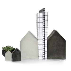 Set Of Four Concrete Houses