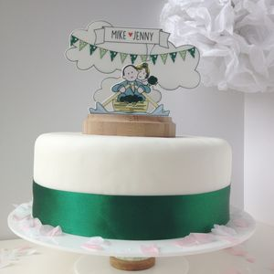 Personalised Vintage Rowing Boat Wedding Cake Topper - cakes & treats