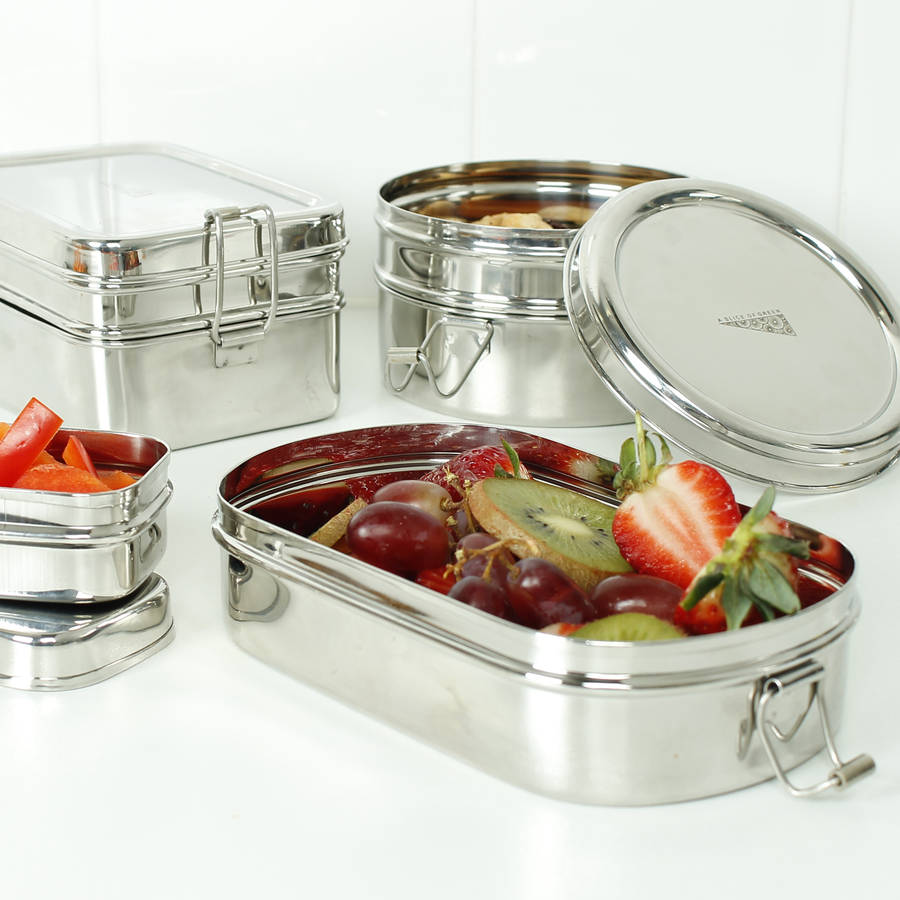 Stainless Steel Lunch Boxes By Green Tulip Ethical Living