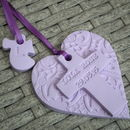 lilac with angel gift tag