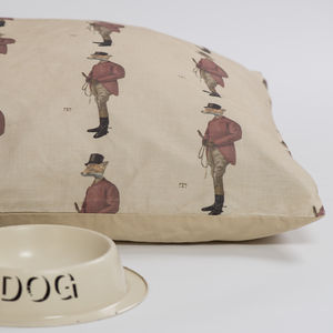 Country Print Cushion Dog Bed