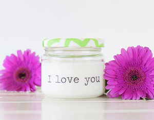 'I Love You' Candle - bedroom