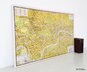 A To Z Historical Canvas Map London