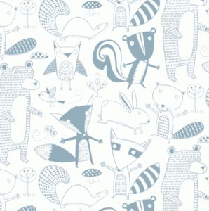 Friendly Forest Wallpaper Sample - children's room