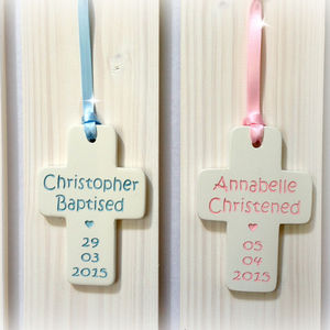 Christening Gift Ceramic Cross - christening gifts