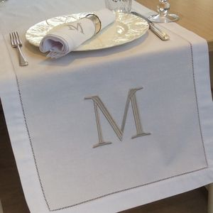 Personalised Linen Table Runner - bed, bath & table linen