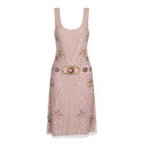 Rosalie Sequin Blush Flapper Dress - best-dressed guest