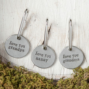 'Love You' Grandparent Keyring - gifts for grandfathers