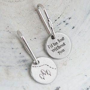 'Lost Without You' Keyring - women's accessories