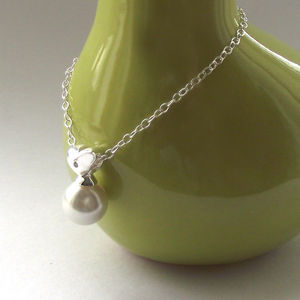 Silver Heart And Pearl Necklace - necklaces & pendants