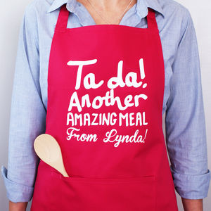 Personalised Ta Da! Another Amazing Meal Apron - aprons