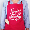 Personalised Ta Da! Another Amazing Meal Apron