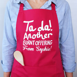 'Ta Da Another Burnt Offering' Apron - not what they got last year