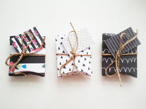Set Of Six Diy Monochrome Diy Pillow Gift Boxes