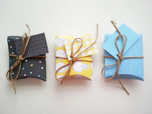 'Shine Bright' Diy Pillow Gift Boxes Large And Small