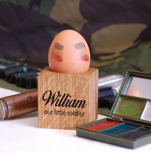 Personalised Our Little Soldier Egg Cup - egg cups & cosies